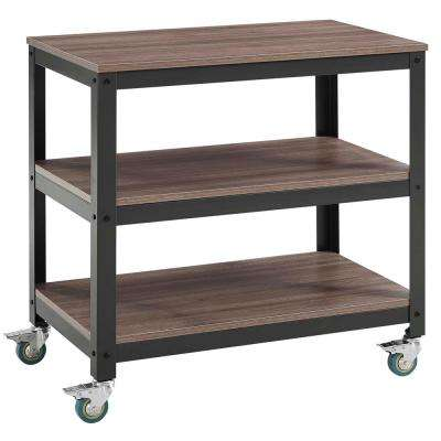 Vivify Gray Walnut Tiered Serving Stand