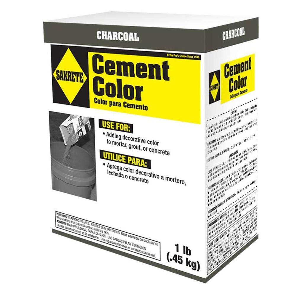 SAKRETE 1 lb. Cement Color Charcoal-65075002 - The Home Depot
