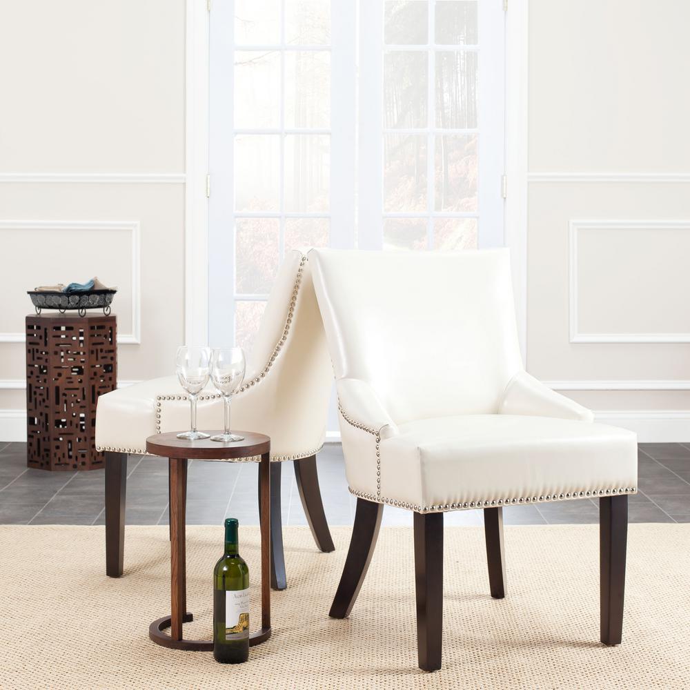 Lotus Flat Cream/Espresso Side Chair (Set of 2)