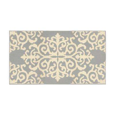 Lowell 32 x 56 in. Loop Accent Rug, Lt Grey/Ivory