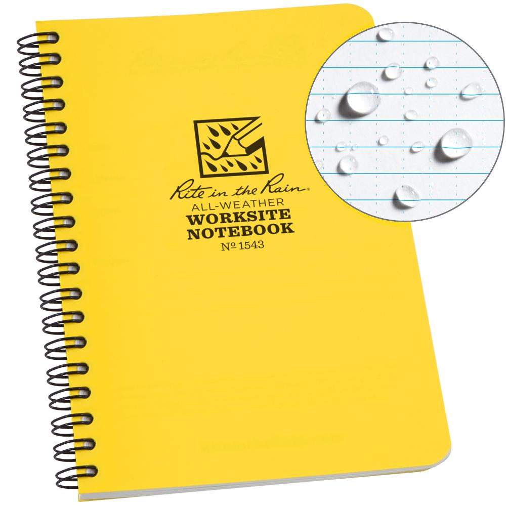 4-5/8 in. x 7 in. Side Spiral Contractors Notebook in Yellow