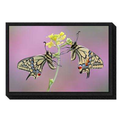 """Incontro romantico"" by Roberto Aldrovandi Framed Canvas Wall Art"