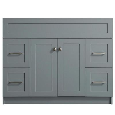 Hamlet 42 in. W x 21.5 in. D x 33.5 in. H Bath Vanity Cabinet Only in Gray