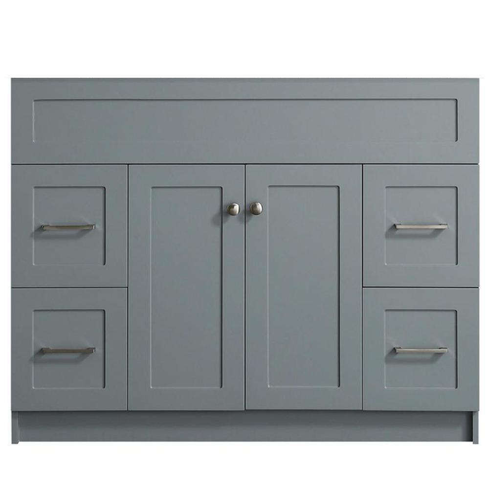 Hamlet 42 in. W x 21.5 in. D x 33.5 in. H Bath Vanity Cabinet Only in Gray