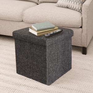 Swell Seville Classics Foldable Storage Cube Ottoman Charcoal Gmtry Best Dining Table And Chair Ideas Images Gmtryco