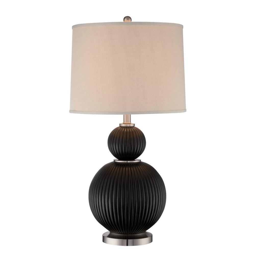 Maisie 29 in. Dark Walnut Table Lamp
