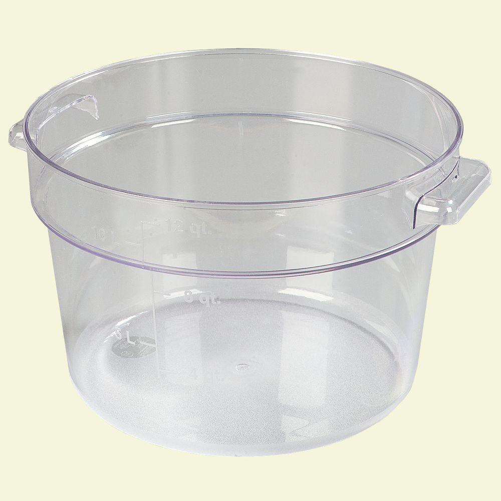 Carlisle 12 qt Polycarbonate Round Storage Container in Clear Case