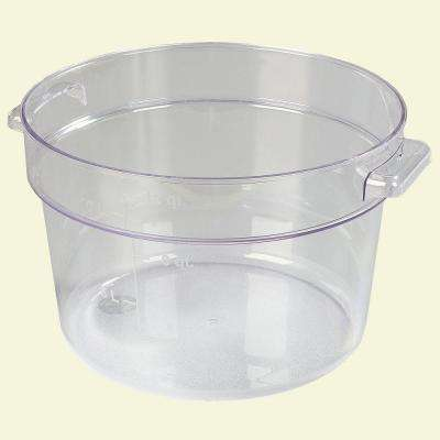 12 qt. Polycarbonate Round Storage Container in Clear (Case of 6)