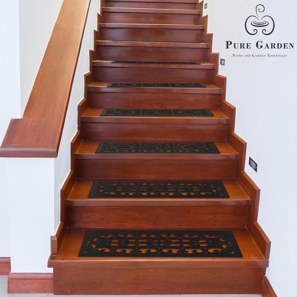 Pure Garden 0 125 In X 9 25 28 Non Slip Stair Mats With
