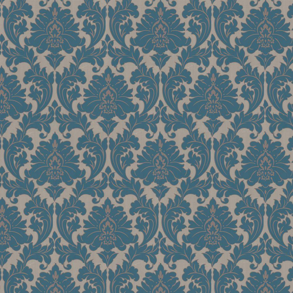 Graham brown majestic teal removable wallpaper 30 435 for Home depot wallpaper