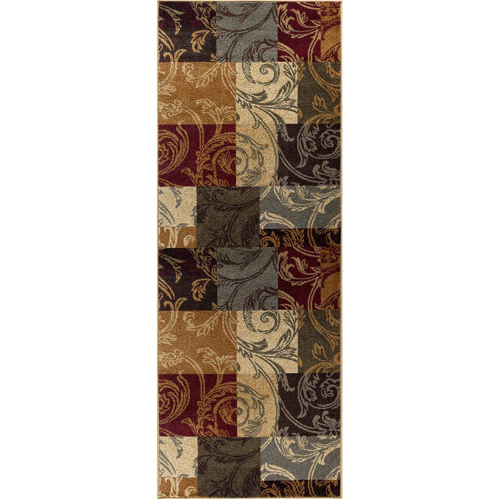 Tayse Rugs Impressions Multi 3 Ft X 7 Ft Transitional