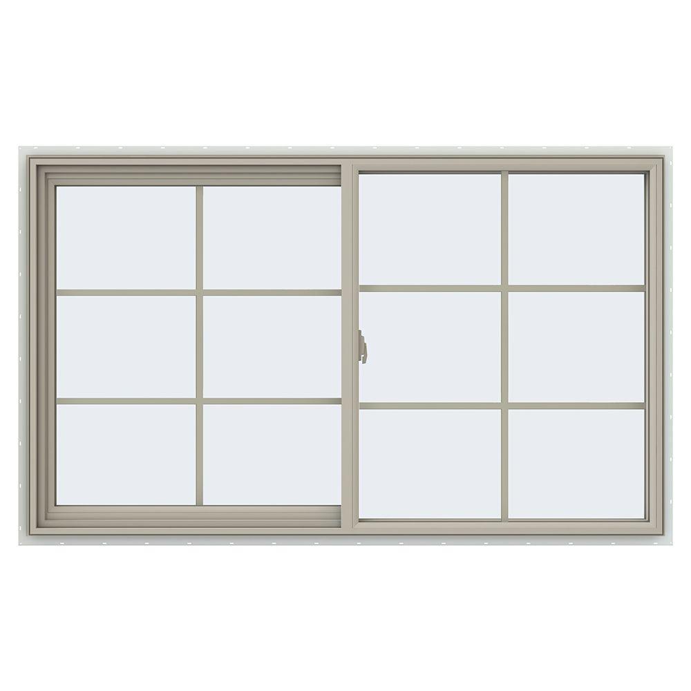 59.5 in. x 35.5 in. V-2500 Series Left-Hand Sliding Vinyl Window