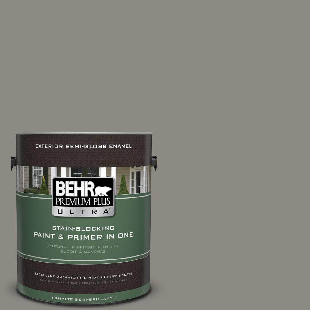 BEHR Premium Plus Ultra 1-gal. #BXC-55 Concrete Sidewalk Semi-Gloss Enamel Exterior Paint