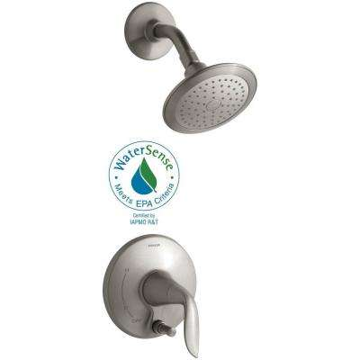 Refinia 1-Handle Shower Faucet Trim Kit with Push-Button Diverter in Vibrant Brushed Nickel (Valve Not Included)