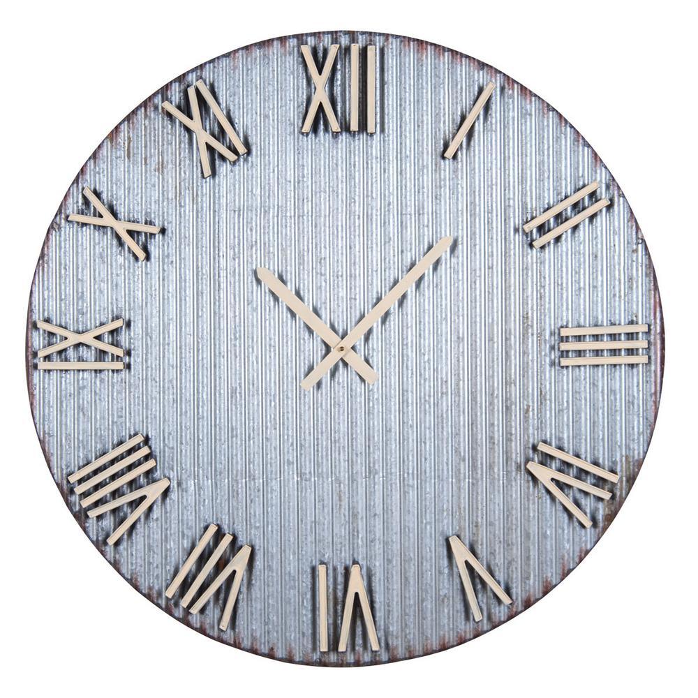 La Crosse Technology 10 in H Silver Metal Analog Wall Clock with