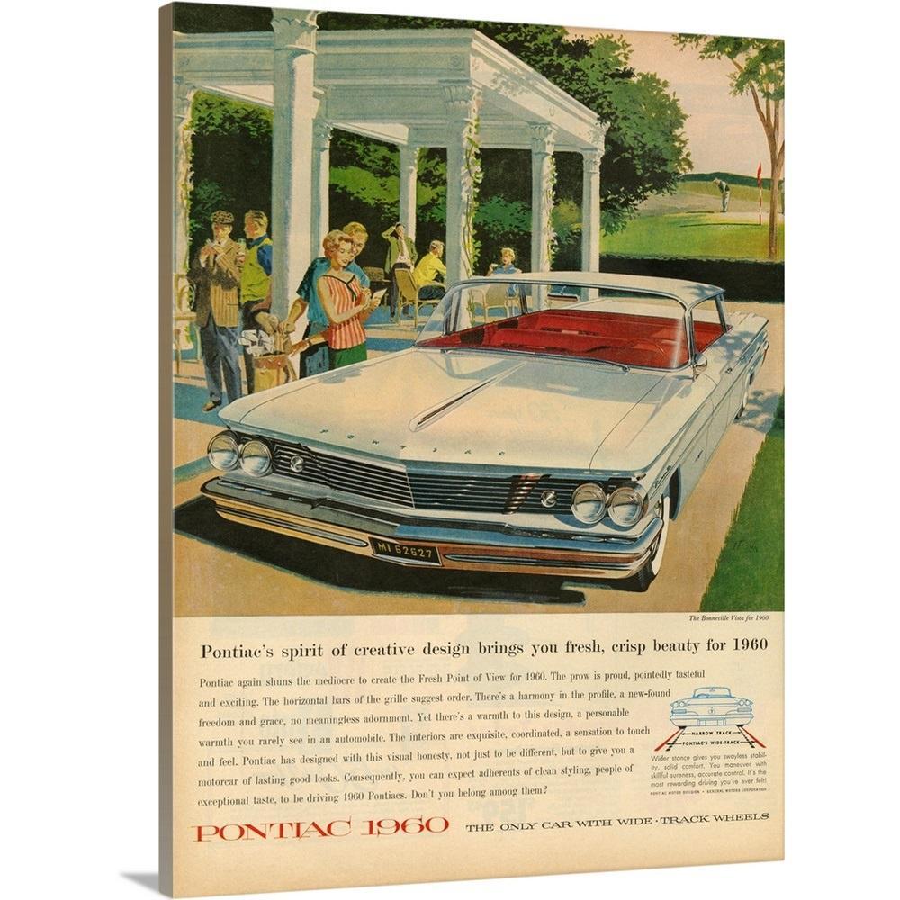 Greatbigcanvas Pontiac 1960 Automobile Advertisement By
