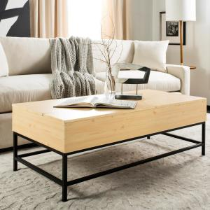 Excellent Safavieh Gina Light Oak Black Coffee Table With Lift Top Cjindustries Chair Design For Home Cjindustriesco