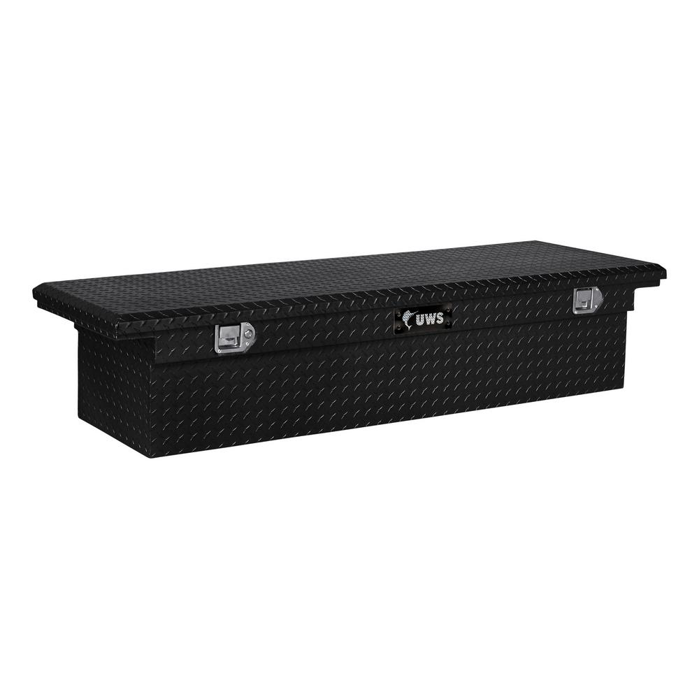 UWS 66.875 Gloss Black Aluminum Low Profile Crossbed Truck Tool Box