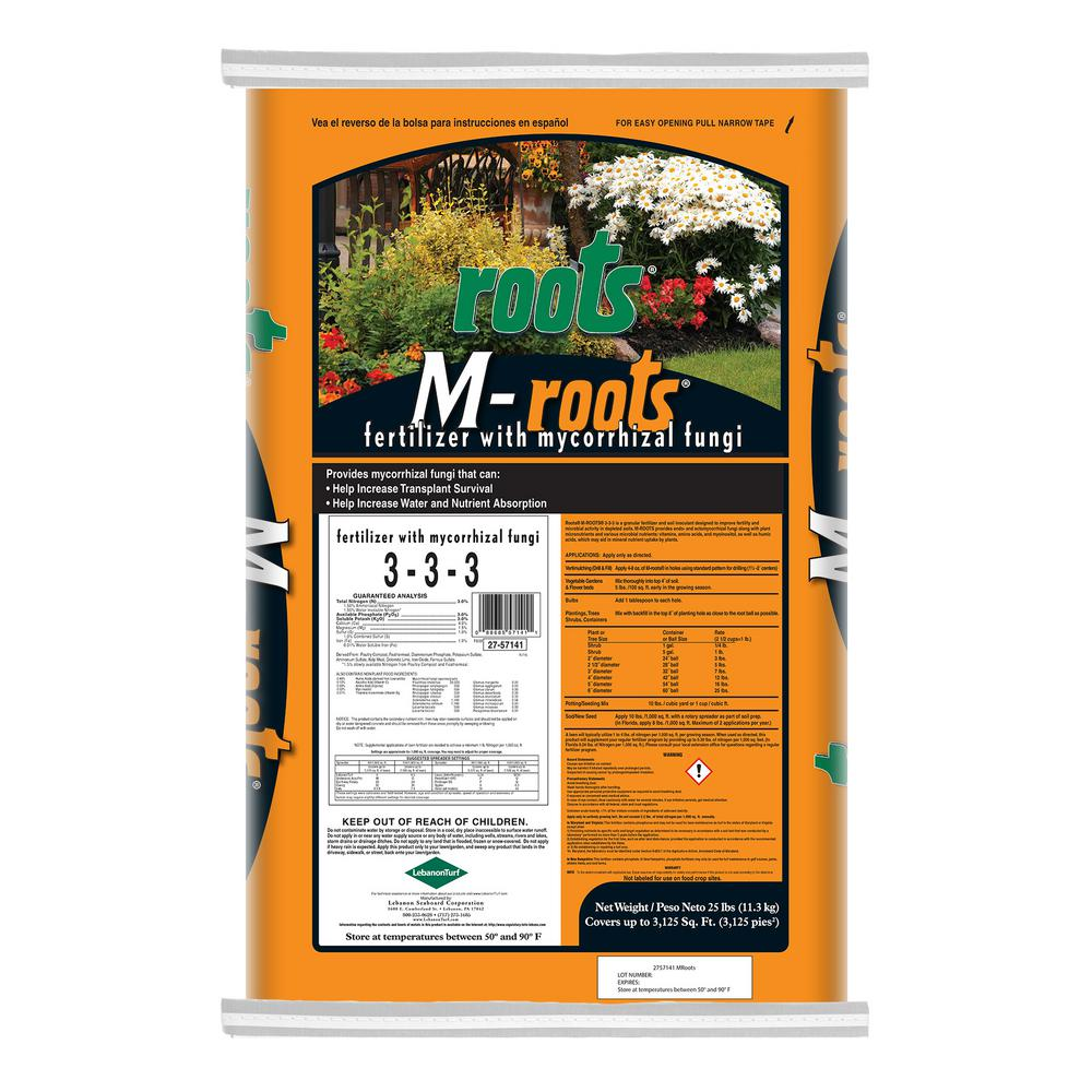 Roots 25 lbs. Organic M-Roots Fertilizer with Mycorrhizal Fungi