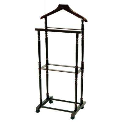 Espresso Men Suit Valet Stand with Suit Hanger