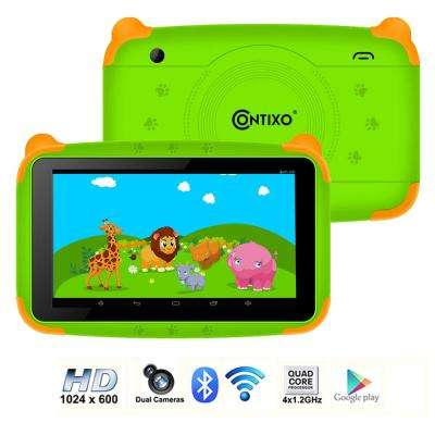 Kids Tablet K4 7 in. Display Android 6.0 Bluetooth Wi-Fi Camera Parental Control for Children Infant Toddlers in Green