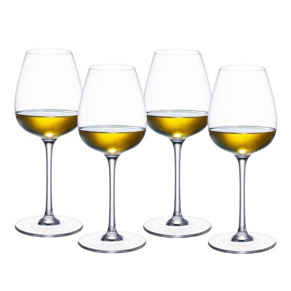 Villeroy & Boch Purismo 13.5 fl. oz. Lead Free Crystal White Wine Glass (4-Pack)