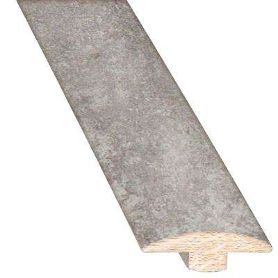 Concrete Gray 5/8 in. Thick x 2 in. Wide x 78 in. Length Hardwood T-Molding