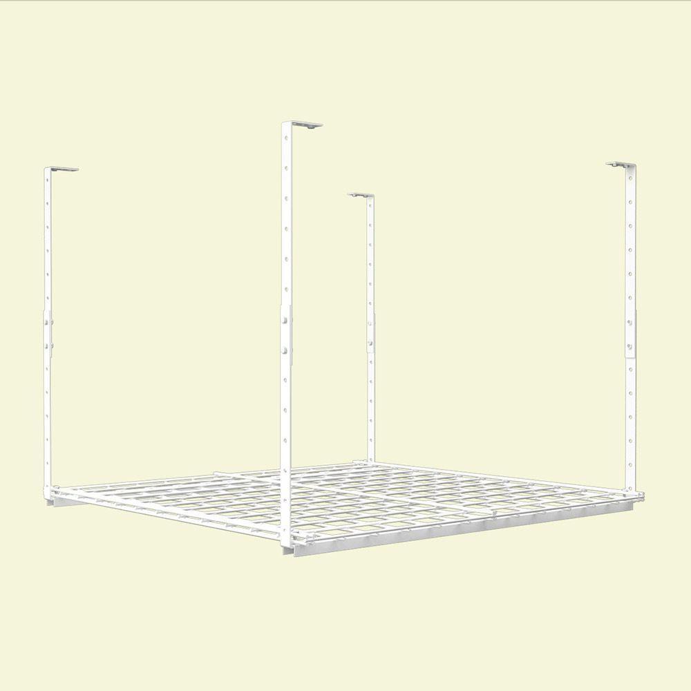 36 in. W x 36 in. D Adjustable Height Garage Ceiling Storage Unit