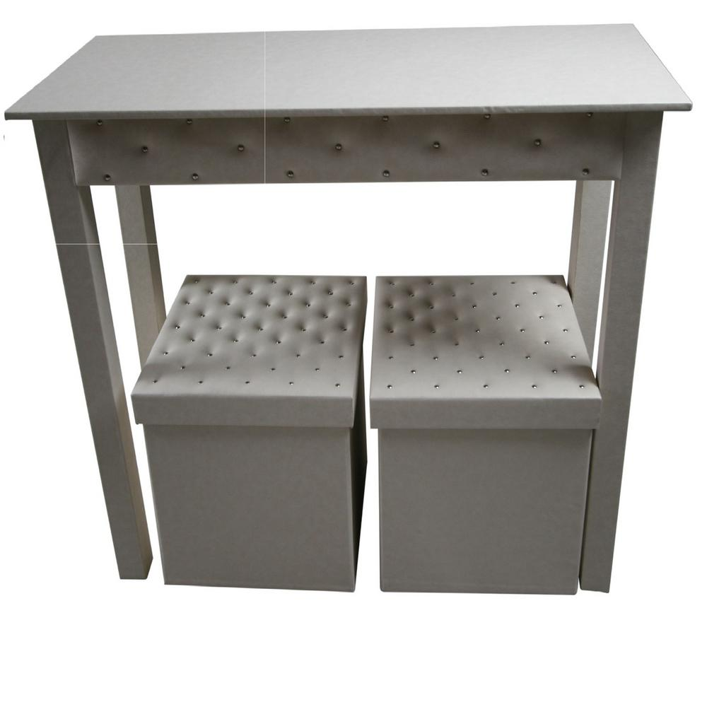 Instant Mosaic Upscale Designs Off White 3 Piece Storage Console Table