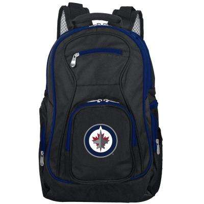 NHL Winnipeg Jets 19 in. Black Trim Color Laptop Backpack