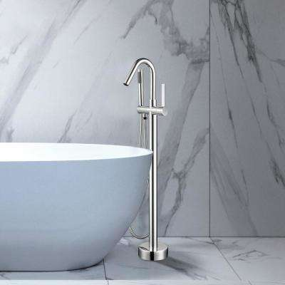 40 in. H x 11 in. W Single Handle Claw Foot Tub Faucet with Hand Shower in Polished Chrome