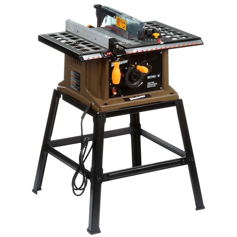 Rockwell 13 Amp 10 in. Table Saw with Leg Stand-RK7240.1 - The ...