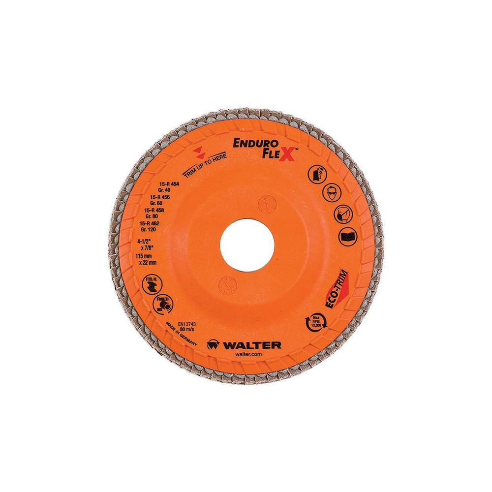 Enduro-Flex 4.5 in. x 7/8 in. Arbor GR60 the Longest Life Flap Disc (10-Pack)