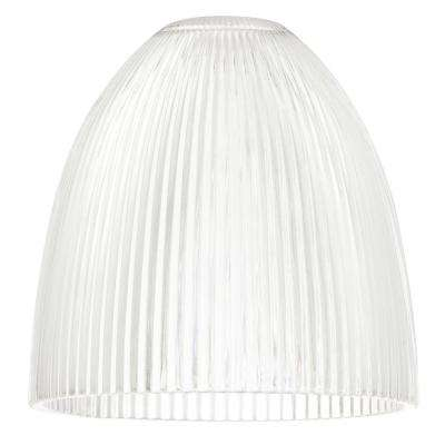 6 in. Clear Ribbed Dome Shade with 2-1/4 in. Fitter and 6 in. W