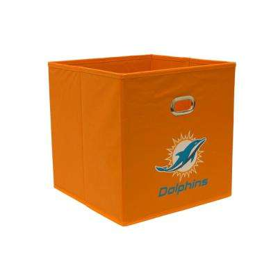 Miami Dolphins NFL Store-Its 10-1/2 in. W x 10-1/2 in. H x 11 in. D Orange Fabric Drawer
