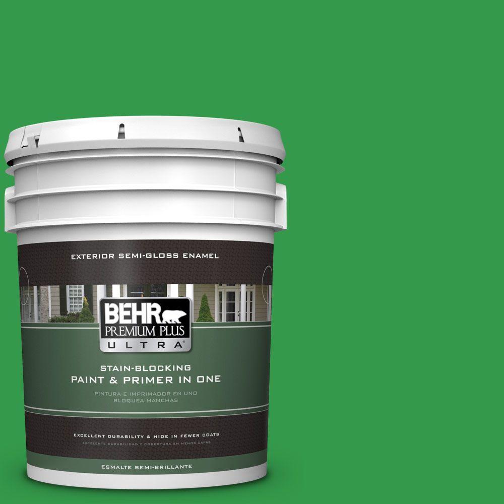 5-gal. #450B-6 Formal Garden Semi-Gloss Enamel Exterior Paint