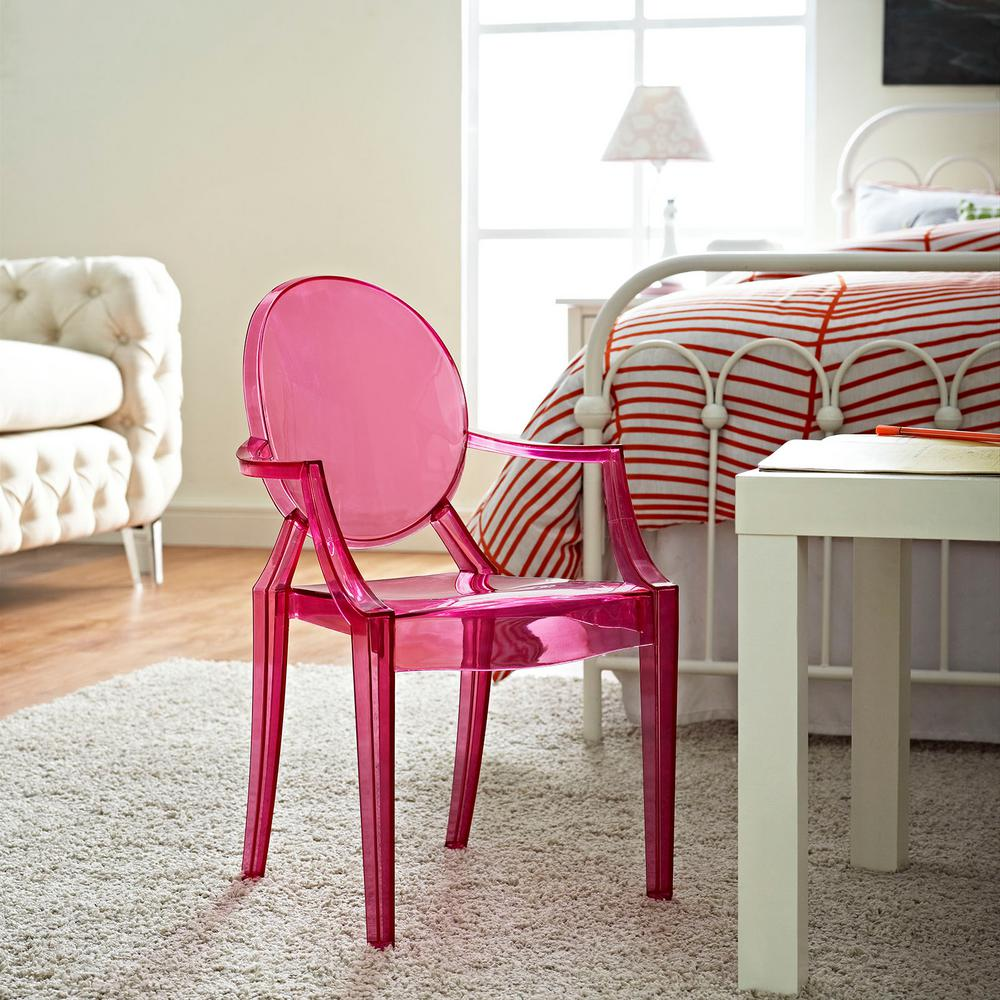 Superbe MODWAY Casper Pink Acrylic Kids Chair