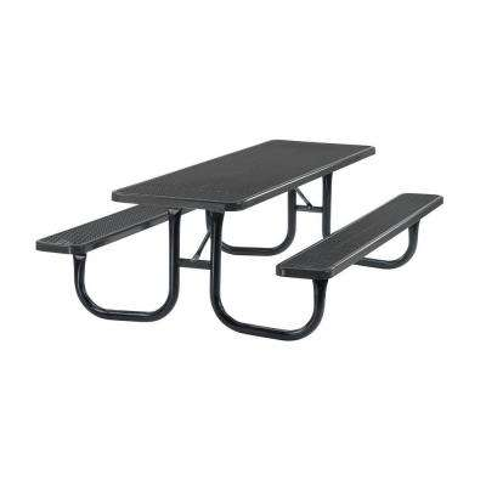 Portable 8 ft. Black Diamond Commercial Rectangular Table