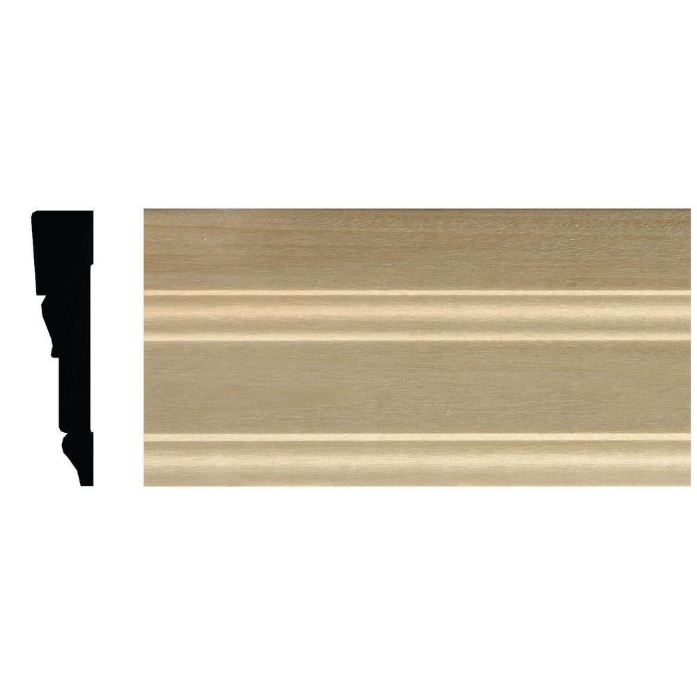 Ornamental Mouldings 5/8 in. x 2-3/4 in. x 84 in. White Hardwood Tudor Casing Moulding