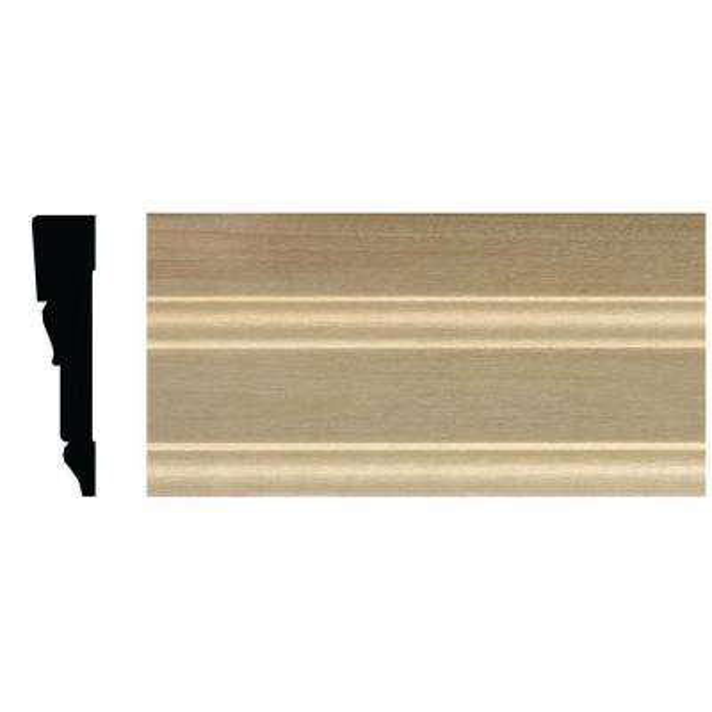 5/8 in. x 2-3/4 in. x 84 in. White Hardwood Tudor Casing Moulding