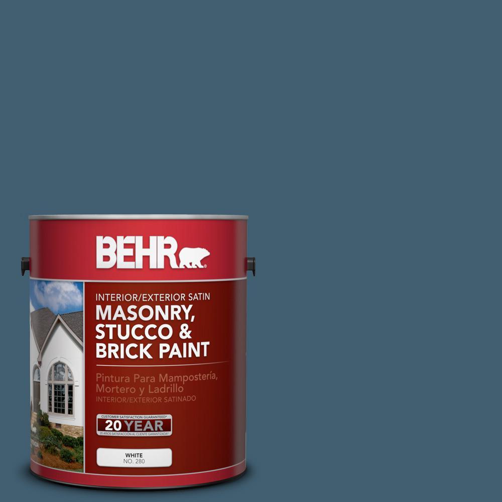 1 gal. #SC-107 Wedgewood Satin Interior/Exterior Masonry, Stucco and Brick Paint