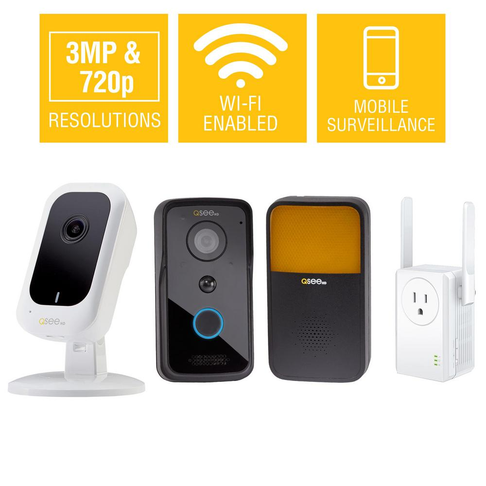 3MP Wi-Fi Mini Camera with 16GB SD Card and 720p Wi-Fi