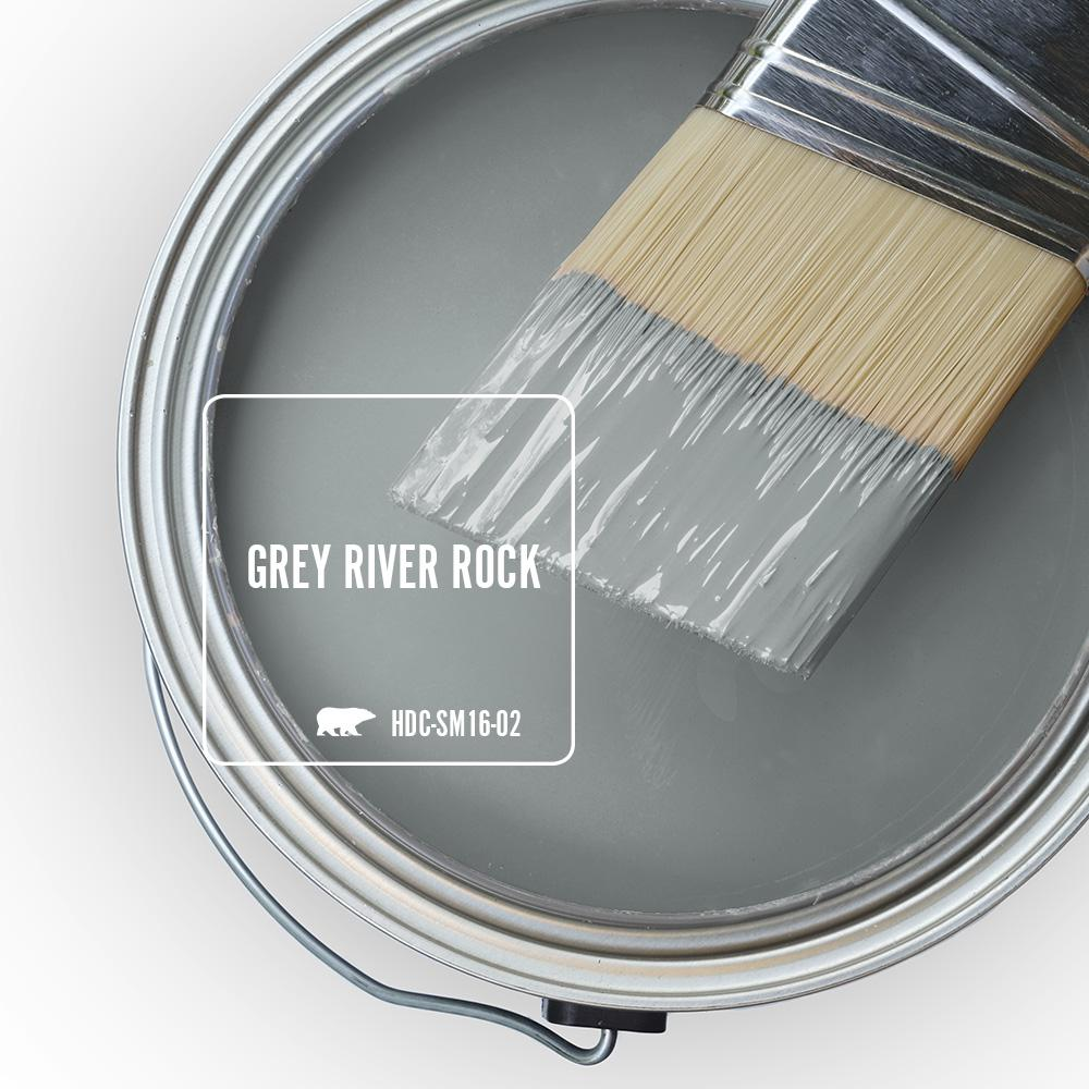 BEHR Grey River Rock paint color
