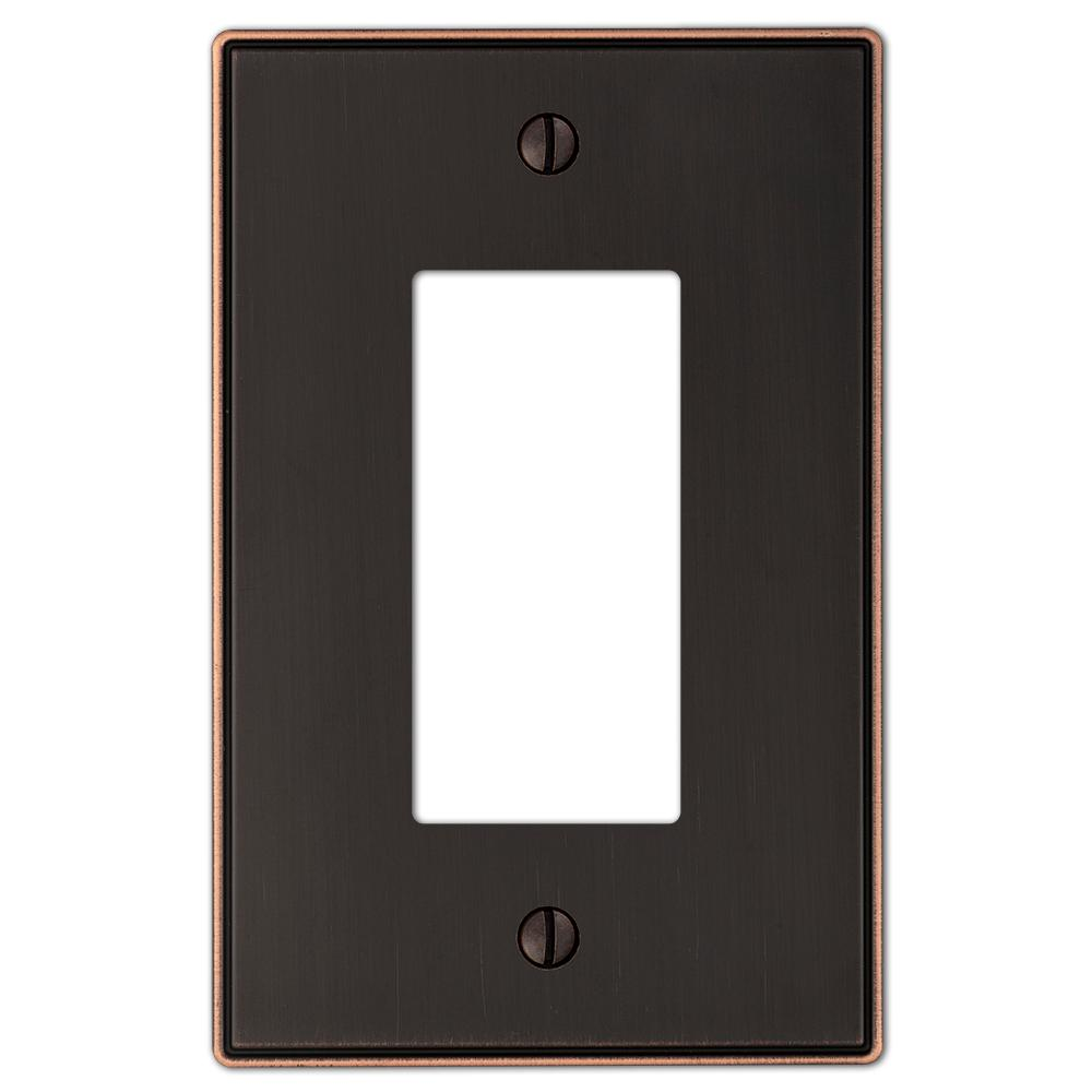 hamptonbay Hampton Bay Ansley Cast 1 Decora Wall Plate - Oil-Rubbed Bronze, Aged Bronze