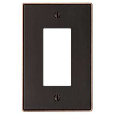 Ansley Cast 1 Decora Wall Plate - Oil-Rubbed Bronze