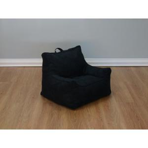 Internet 207061517 Null Black Microsuede Structured Bean Bag