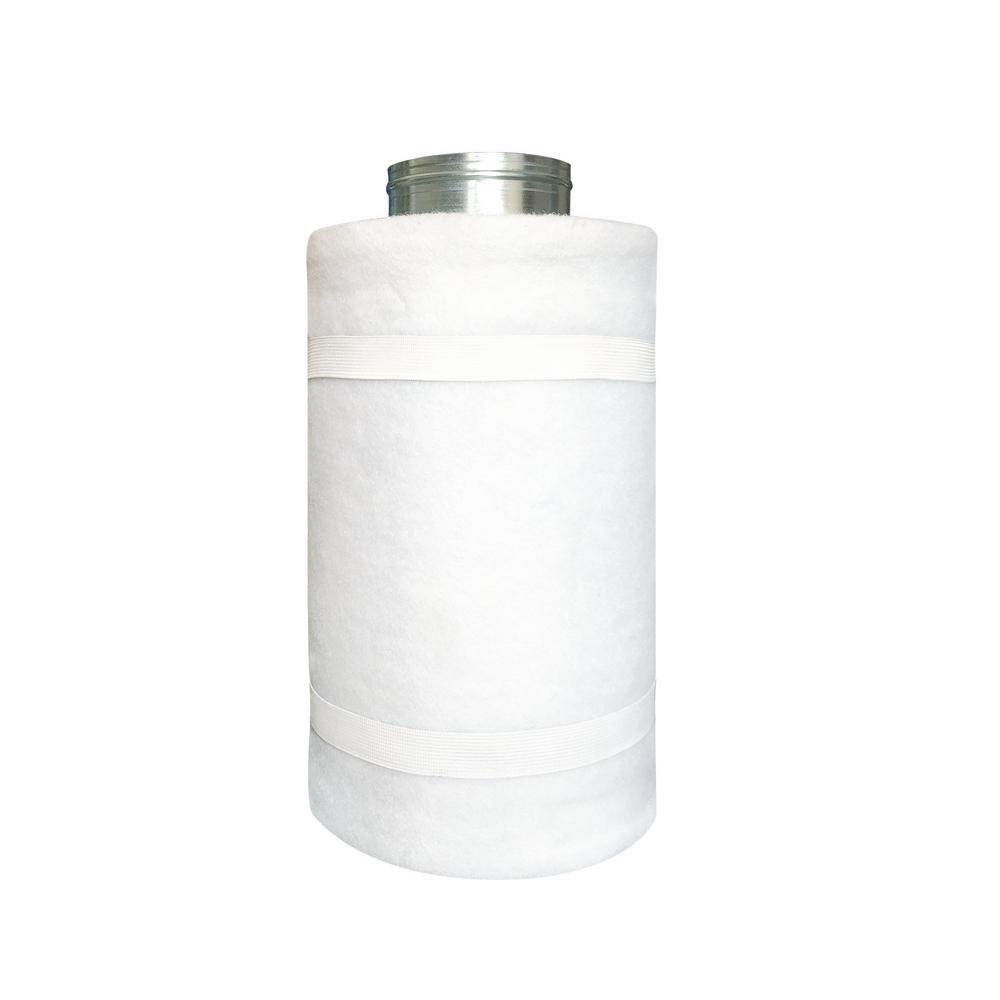 4 in. x 12 in. Carbon Charcoal Air Filter with Flange