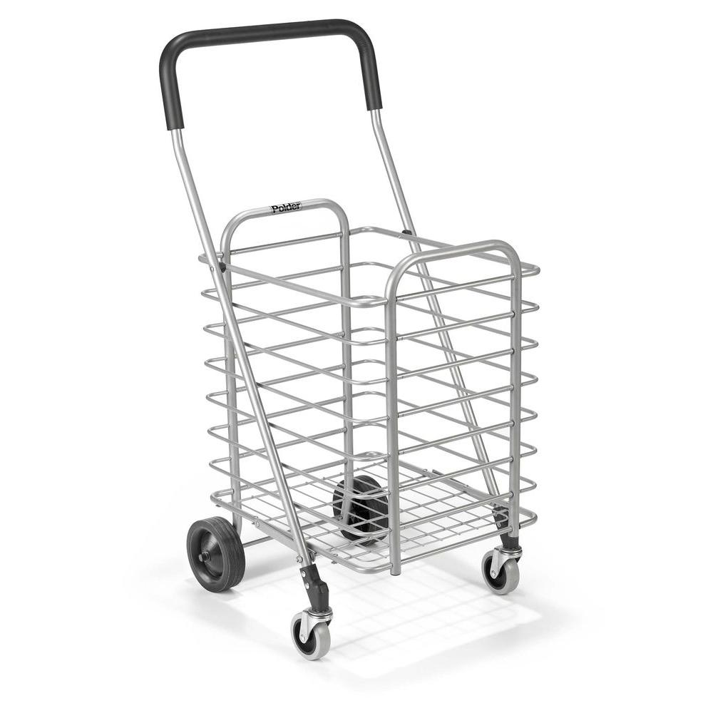 Polder Superlight Shopping Cart, Gray