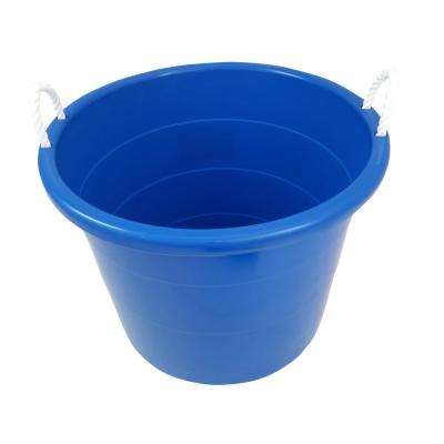 18 Gal. Rope Handle Tub in Blue (4-Pack)