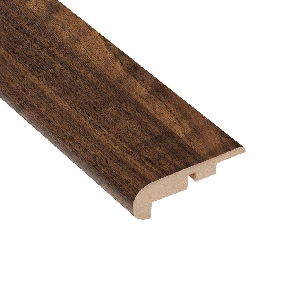 TrafficMASTER Spanish Bay Walnut 11.13 mm Thick x 2-1/4 in. Wide x 94 in. Length Laminate Stair Nose Molding-DISCONTINUED